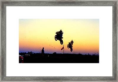 Flying Frenchmen Framed Print by Guy Pettingell