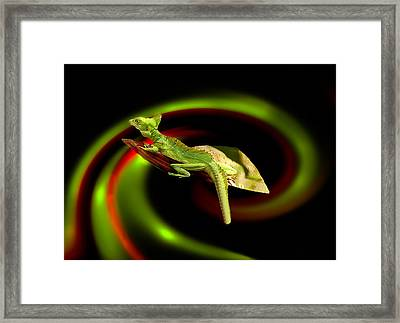 Flying Gekko Framed Print