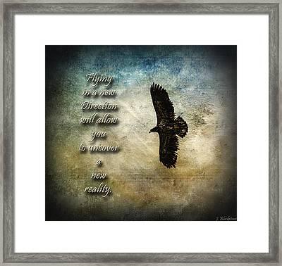Flying In A New Direction Framed Print by Jordan Blackstone