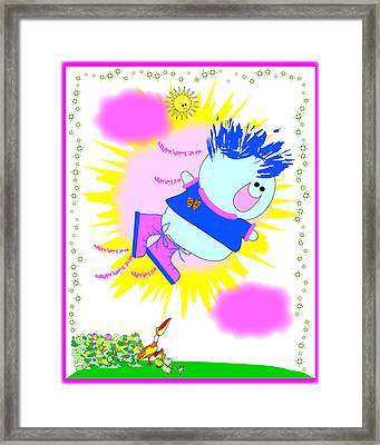 Flying In My Magic Shoes Framed Print by Chris Morningforest