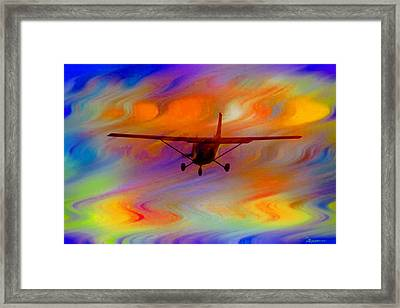 Flying Into A Rainbow Framed Print by EricaMaxine  Price