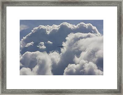 Flying Into The Storm Framed Print