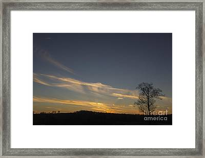 Flying Into The Yellow Sunset Framed Print by Michael Waters