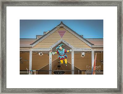 Flying Jester 2  Duval Street Key West - Hdr Style Framed Print by Ian Monk