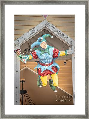 Flying Jester Duval Street Key West - Hdr Style Framed Print by Ian Monk
