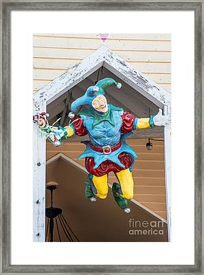 Flying Jester Duval Street Key West Framed Print by Ian Monk
