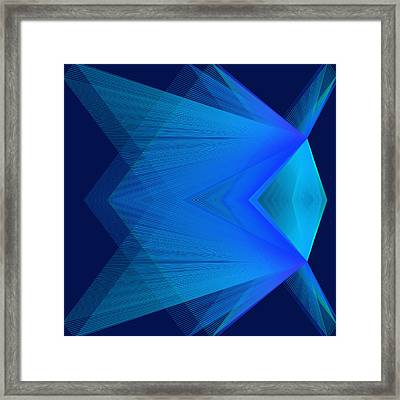 Framed Print featuring the digital art Flying by Karo Evans