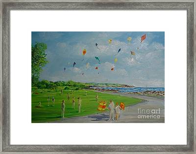 Flying Kites Newport Ri Framed Print