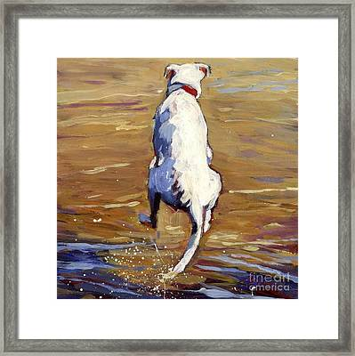 Flying Leap Framed Print