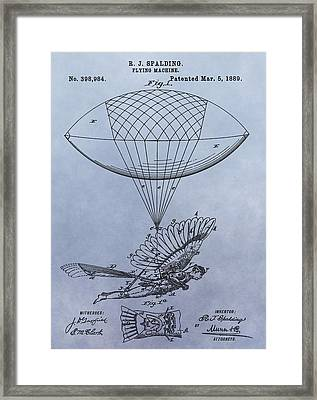 Flying Machine Patent Framed Print by Dan Sproul