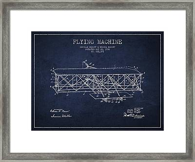 Flying Machine Patent Drawing From 1906 Framed Print by Aged Pixel