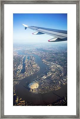 Flying Over London Framed Print by Georgeclerk