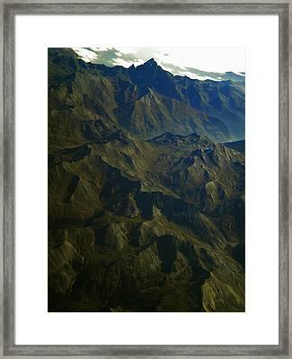 Flying Over The Alps In France Framed Print