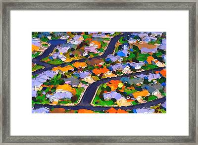 Flying Over Town Framed Print by Yury Malkov