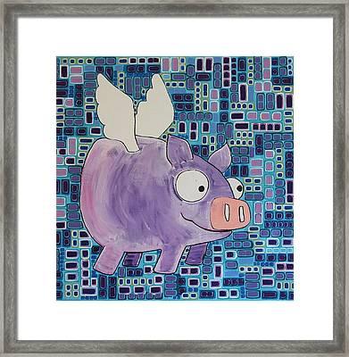 Flying Pig Framed Print