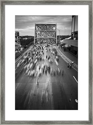 Flying Pig Marathon Framed Print by Scott Meyer