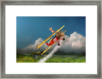 Flying Pigs - Plane - Hog Wild Framed Print by Mike Savad