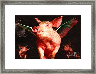 Flying Pigs V2 Framed Print by Wingsdomain Art and Photography