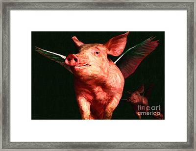 Flying Pigs V3 Framed Print