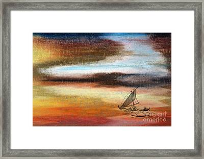 Flying Proa Framed Print by R Kyllo
