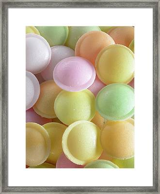 Flying Saucer Sweets Framed Print