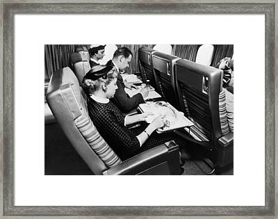 Flying Scandinavian Airlines In The 1960s Framed Print by Mountain Dreams