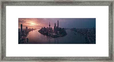 Flying Shanghai Framed Print