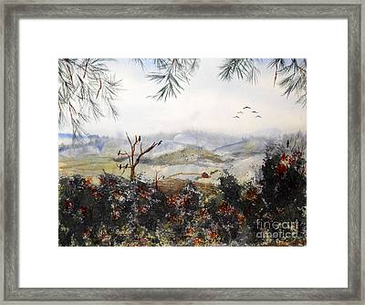 Flying South For The Winter Framed Print by Vicki  Housel