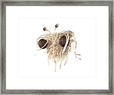 Flying Spaghetti Monster Framed Print by Christian Darkin