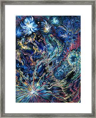 Flying Spirits Framed Print by Karen Nell McKean