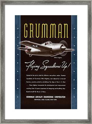 Grumman Flying Squadrons Up Framed Print