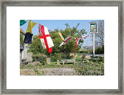 Framed Print featuring the photograph Flying The Flag For St George by Linda Prewer