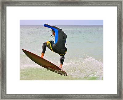 Flying The Wave Framed Print
