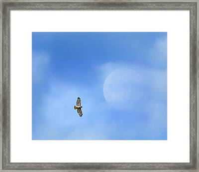 Flying To The Moon Framed Print by Bill Wakeley