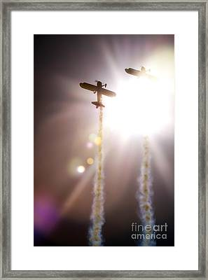 Flying To The Sunshine Framed Print by Angel  Tarantella
