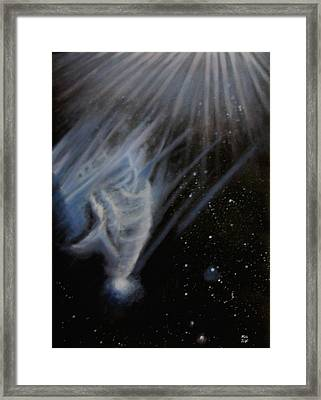 Flying To The Universe Framed Print by Min Zou