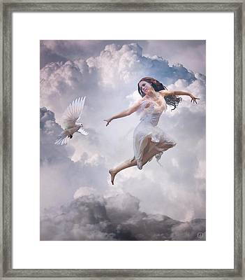 Flying Together Framed Print by Gun Legler