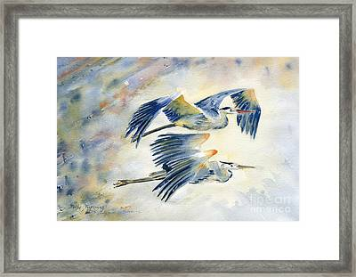 Flying Together Framed Print by Melly Terpening