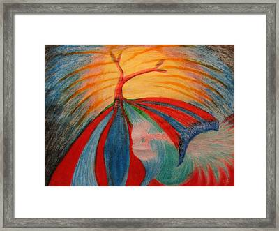 Flying Tree Framed Print by Melody Cook