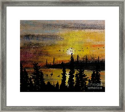 Flying Up The Narrows Framed Print