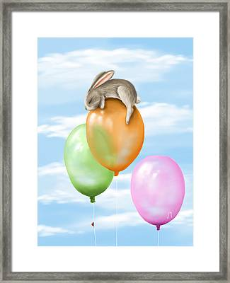 Flying Framed Print by Veronica Minozzi