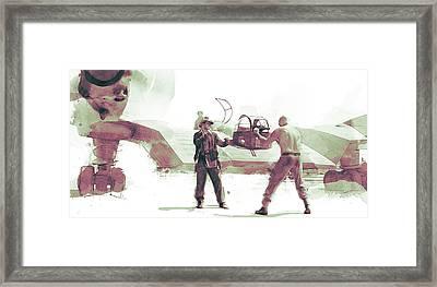 Flying Wing Battle Framed Print by Kurt Ramschissel