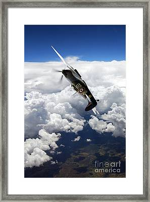 Flying With A Legend  Framed Print by J Biggadike