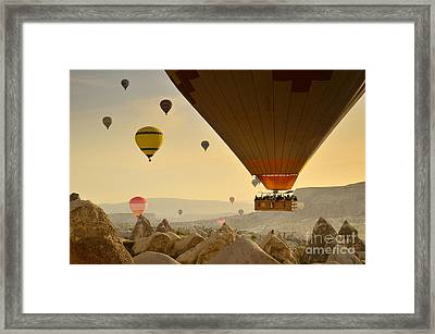 Flying With The Fairies 2 - Cappadocia Turkey Framed Print by OUAP Photography