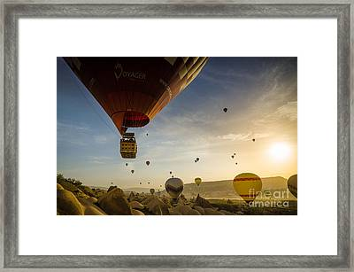 Flying With The Fairies - Cappadocia Turkey Framed Print by OUAP Photography