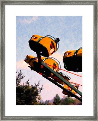 Flying With The Carnival Framed Print