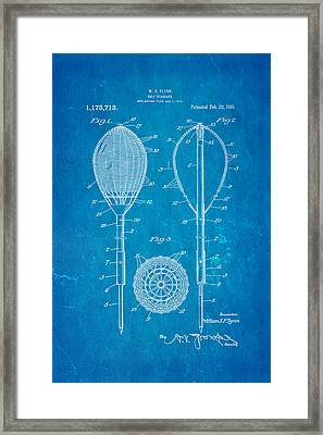 Flynn Merion Golf Club Wicker Baskets Patent Art 1916 Blueprint Framed Print