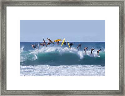 Flynnstone Flip Framed Print by Sean Davey