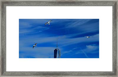 Flyover One World Trade Center Framed Print by Dan Sproul