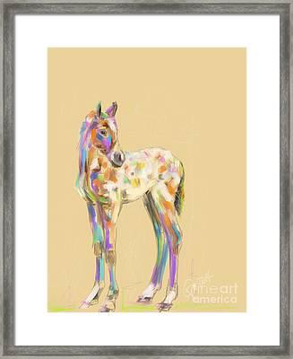 Foal Paint Framed Print by Go Van Kampen